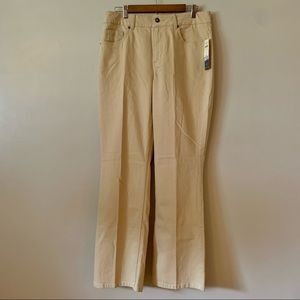 NWT Coldwater Creek Ivory Jeans Misses Size 14